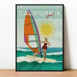 Plakat/kolaż CALIFORNIA GIRL